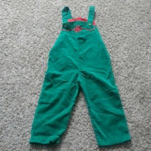 Vintage Piccolo Holiday Green Velvet Overalls